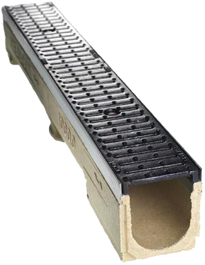 Channel Drain with grate