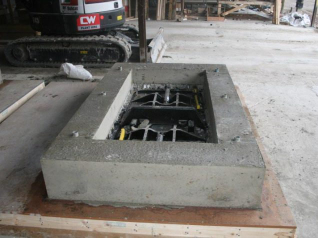 precast cover units for the duct chambers