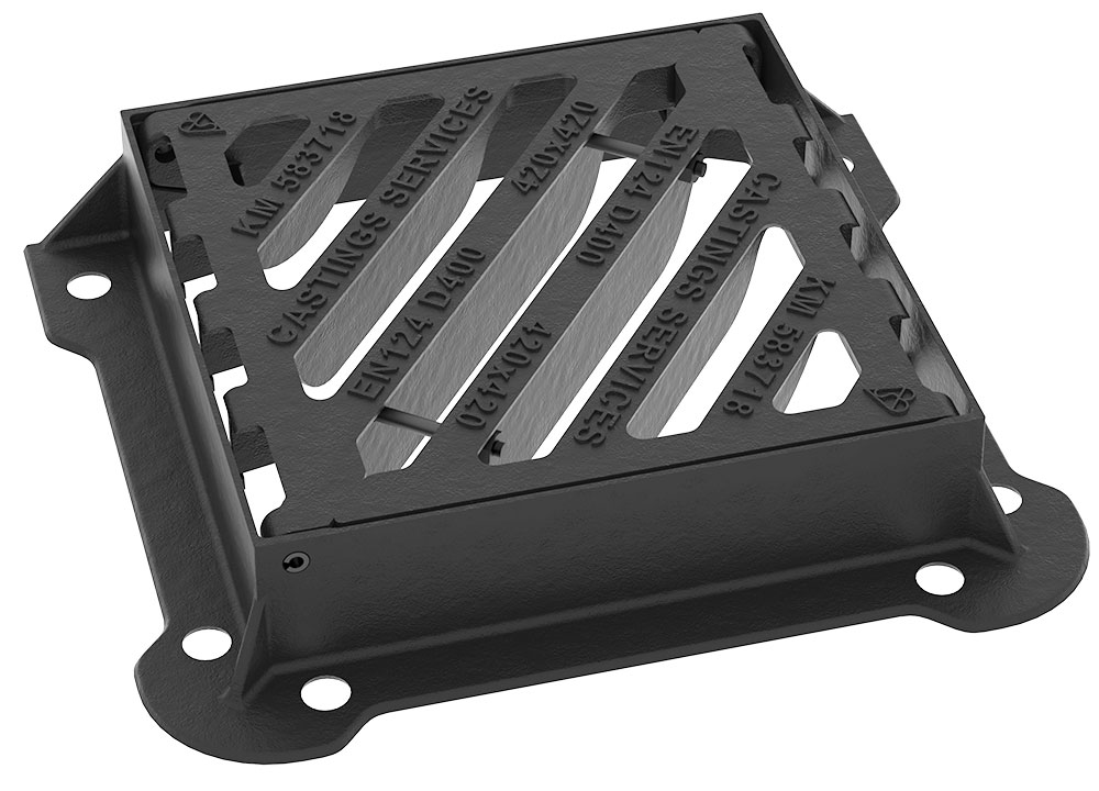 D400 Gully Grates - Made in the UK - HA104 Compliant - Heavy