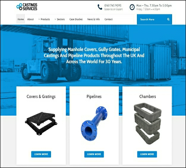 Castings Services Homepage Image